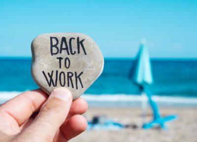 Werken in het buitenland terug van vakantie